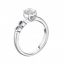Серебряное кольцо Верность с кристаллом Swarovski