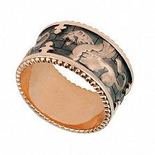 Кольцо из красного золота Грифон