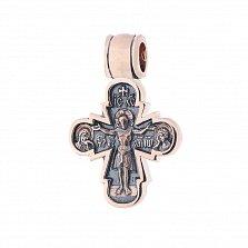 Золотой крест с чернением Святой покровитель