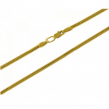 Цепочка из желтого золота Снейк 1 мм