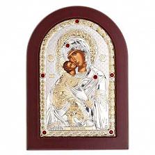 Владимирская икона серебряная Богоматери