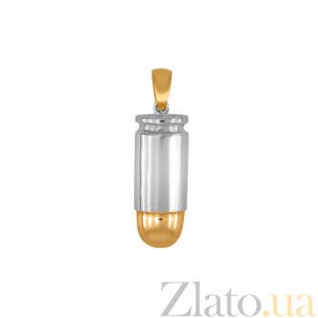 Подвеска Патрон из желтого и белого золота VLT--А308-3