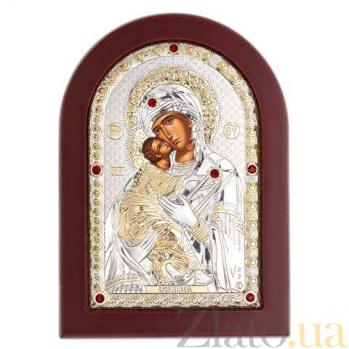 Владимирская икона серебряная Богоматери AQA-MA/E1110DX