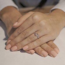 Золотое кольцо с фианитами Нежность