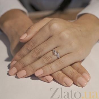 Золотое кольцо с фианитами Нежность 12839