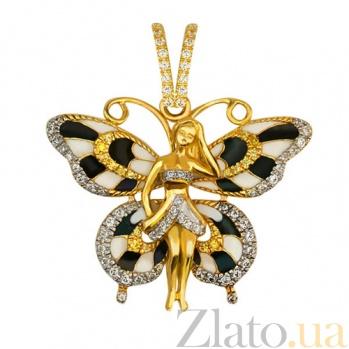 Золотая подвеска Бабочка VLT--ТТ3392-1