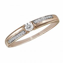 Обручальное кольцо из красного золота Венди с бриллиантами