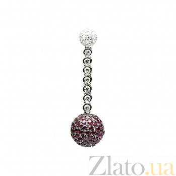 Золотой подвес с рубинами и бриллиантами Рубиновый закат 000026784