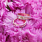 Золотое обручальное кольцо Кровь с молоком с гранжевой поверхностью, 4мм 000053001