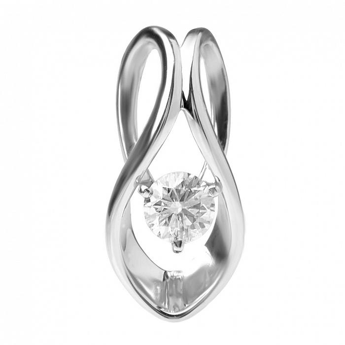 Подвес с бриллиантом из белого золота Омикрон 000030464