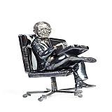 Серебряная статуэтка Финансовый гений
