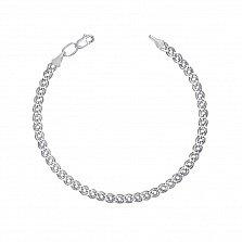 Серебряный браслет Нонна с родиевым покрытием