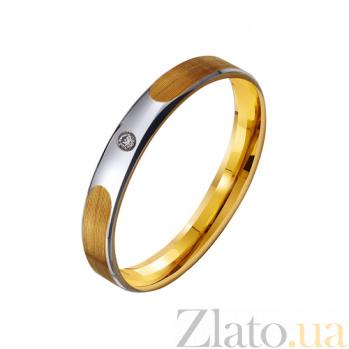 Золотое обручальное кольцо Аргентинское танго с фианитом TRF--432246