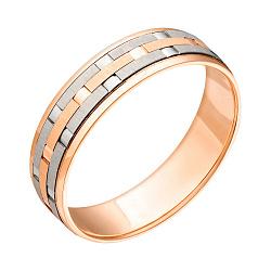 Обручальное кольцо в комбинированном цвете золота 000001643