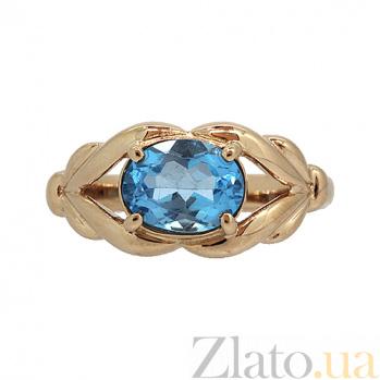 Золотое кольцо в желтом цвете с топазом Деметра ZMX--RT-6599_K