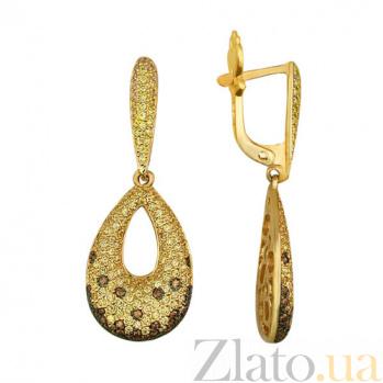 Серьги-подвески из желтого золота Аманда VLT--ТТ2238-1