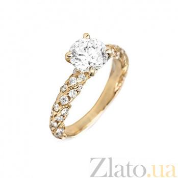 Кольцо в желтом золоте Оливия с бриллиантами 000079346