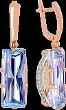 Золотые серьги с топазами и цирконием Одетта