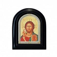 Серебряная икона Господь с позолотой