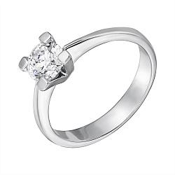 Золотое кольцо Bodicea в белом цвете с бриллиантом