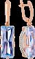 Золотые серьги с топазами и цирконием Одетта VLN--113-1265-1