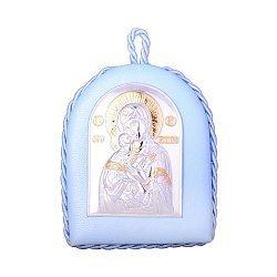 Икона Божия Матерь Владимирская с серебрением и позолотой 000131699