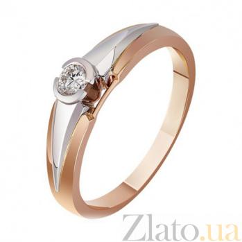 Золотое кольцо  с бриллиантом След кометы EDM--КД7487