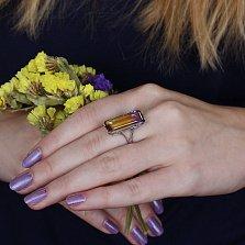 Серебряное кольцо Октавия с аметрином