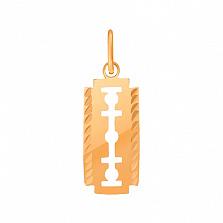 Золотой подвес с эмалью Лезвие