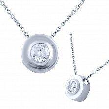 Серебряное колье Лулу с кристаллом циркония