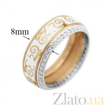 Обручальное кольцо с бриллиантами и эмалью Формигаль VLA--15920