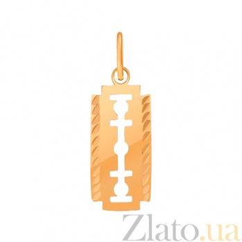 Золотой подвес с эмалью Лезвие 000023770