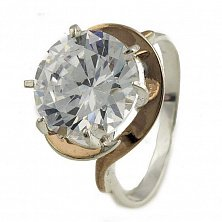 Серебряное кольцо Фрида с кристаллом циркония