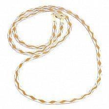 Серебряная цепь Олива с позолотой, 5 мм