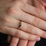 Золотое кольцо с бриллиантом Николетт