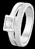 Серебряное кольцо с фианитом Эстрелла