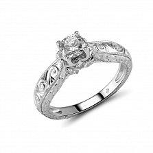 Кольцо из белого золота Леонора с бриллиантами