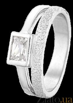 Серебряное кольцо с фианитом Эстрелла 000025684