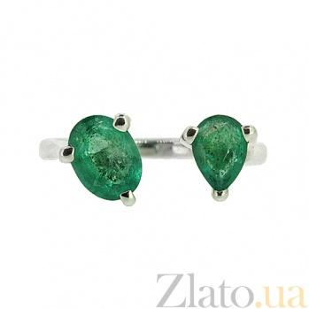 Серебряное кольцо с изумрудами Роксан ZMX--RE-6920-Ag_K