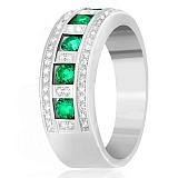 Серебряное кольцо Элата с зеленым цирконием