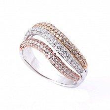 Золотое кольцо Аделаида с бриллиантами