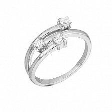 Серебряное кольцо с фианитами Хейли