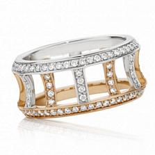 Кольцо Argile-F из белого и розового золота