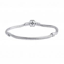Серебряный браслет Элиза для шармов в стиле Пандора, 3 мм