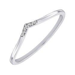 Кольцо из белого золота с бриллиантами 000148367