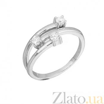 Серебряное кольцо с фианитами Хейли 000028087
