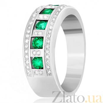 Серебряное кольцо Элата с зеленым цирконием 000030957