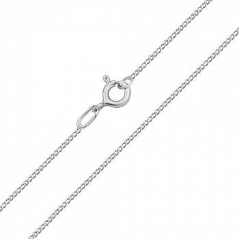 Серебряная цепочка в панцирном плетении 000118276, 1 мм