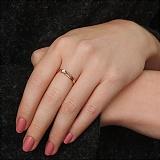 Золотое кольцо Признание с бриллиантом
