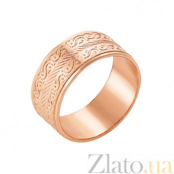 Золотое обручальное кольцо Виталина в красном цвете с алмазной гранью 10101/16